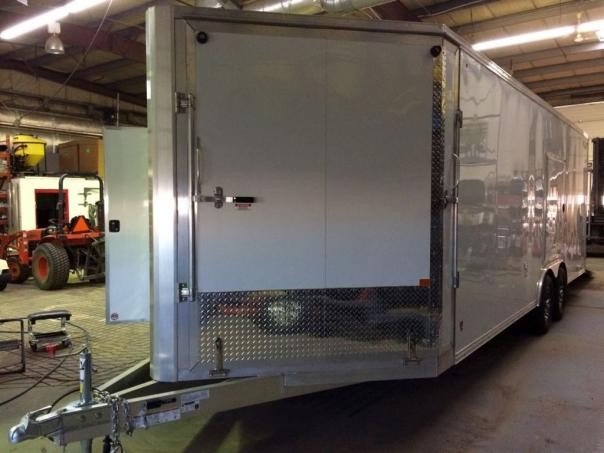 Aluminum Enclosed Snowmobile Trailers