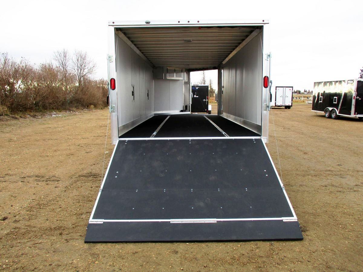 High Country Enclosed Aluminum Sled Trailer on framed dump trailers