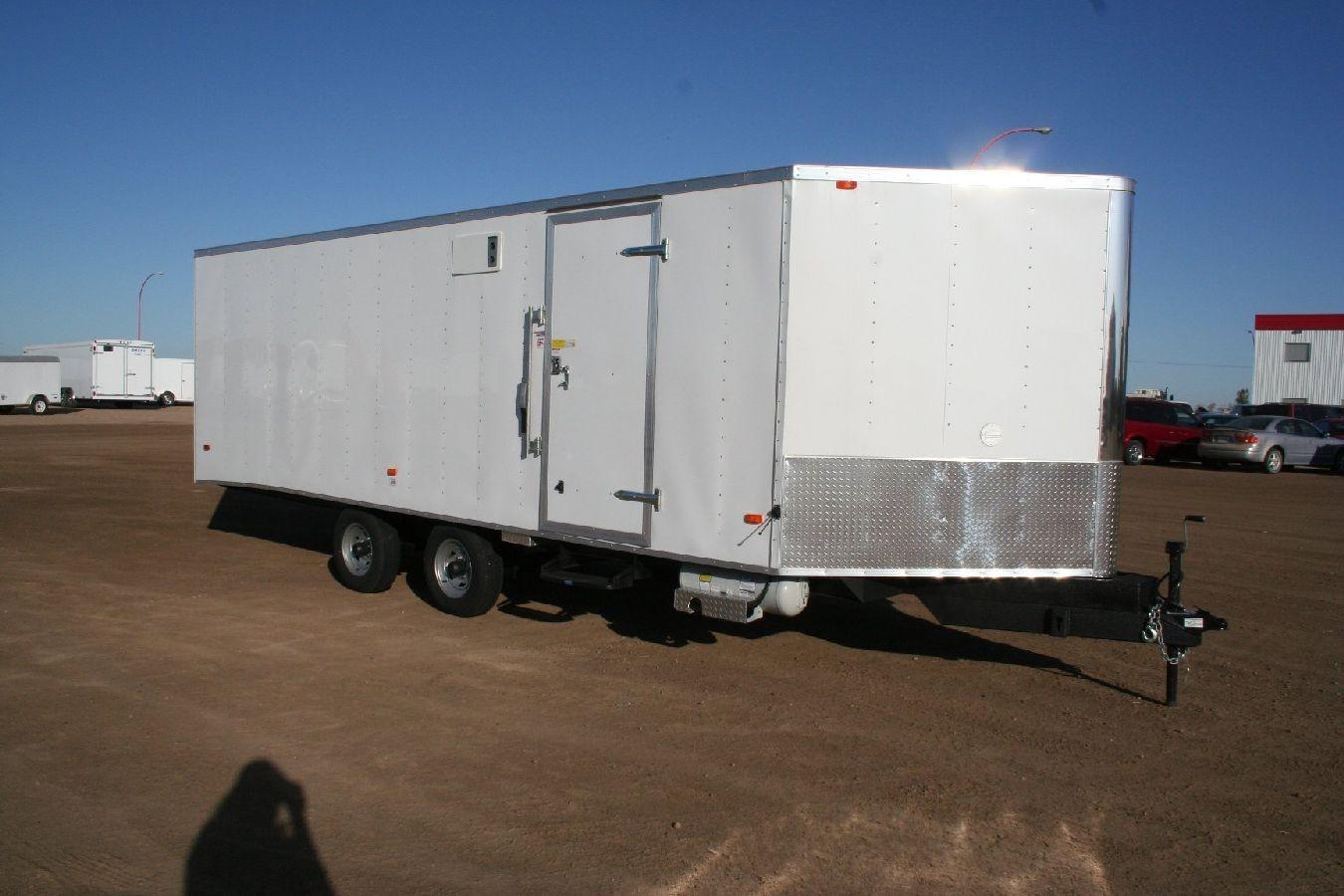 Steel Enclosed Snowmobile Trailer Heated