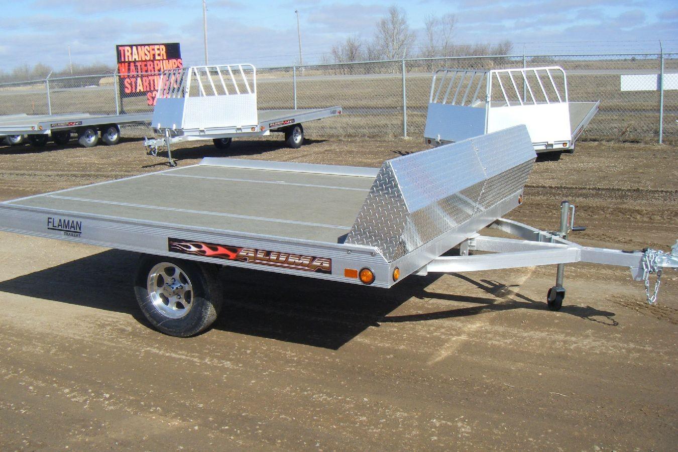 Aluminum Atv Ramps >> Aluminum Tilt Snowmobile Trailer