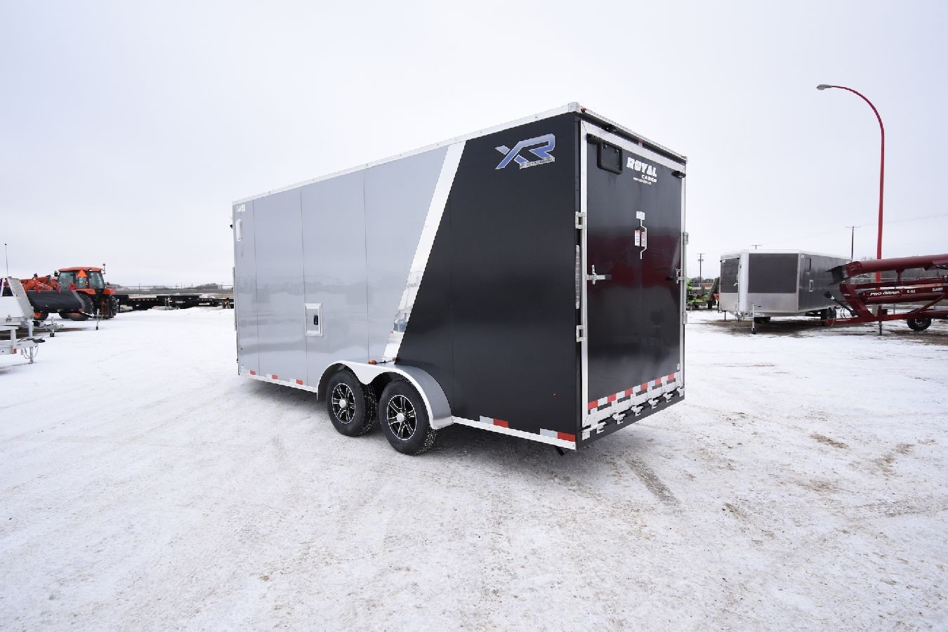 Enclosed Snowmobile Trailer 7 Wide