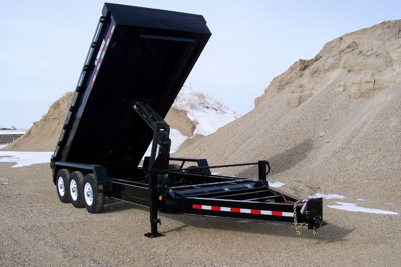Flat Deck Trailer >> Heavy Duty Dump Trailer by Trailtech