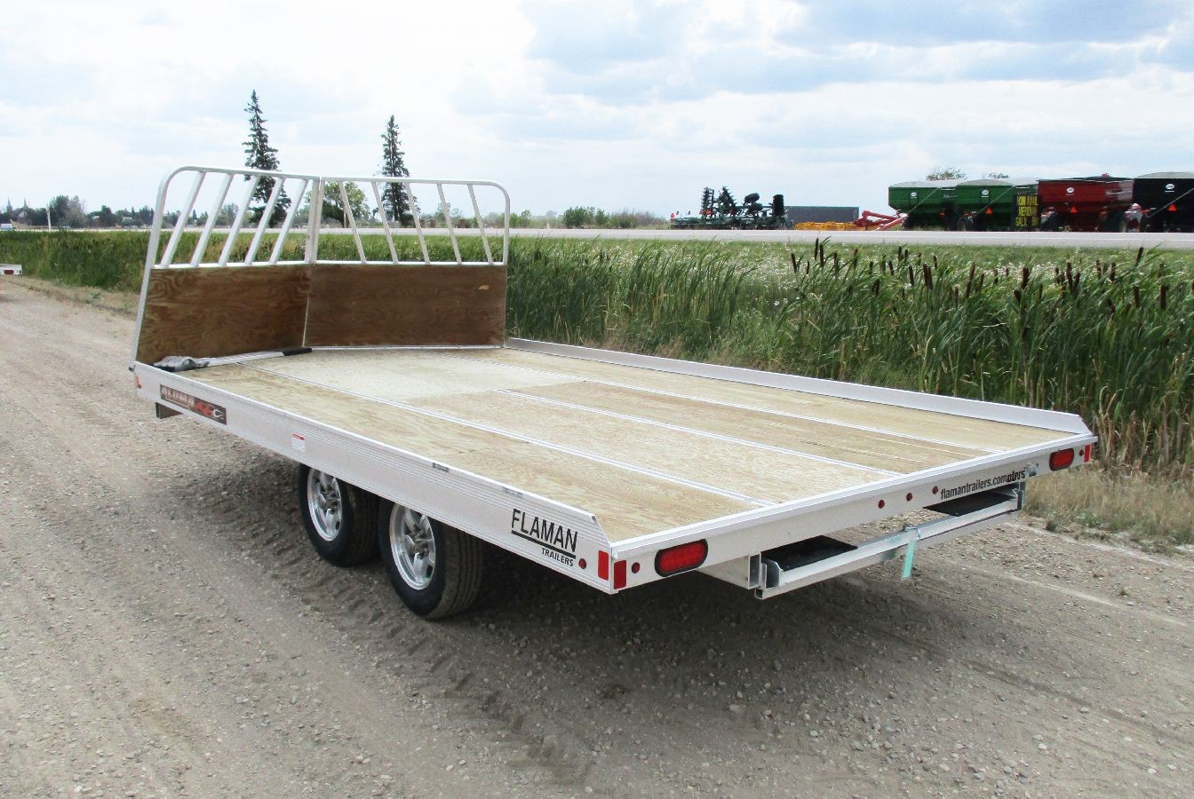 Flatbed Drive On Snowmobile Trailer
