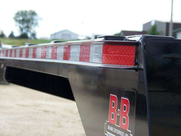 rub rail with stake pockets on Behnke Sprayer Trailer
