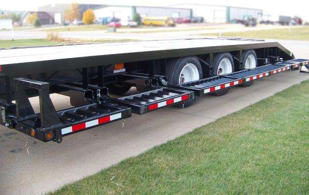 Behnke Semi Sprayer Trailer Rails