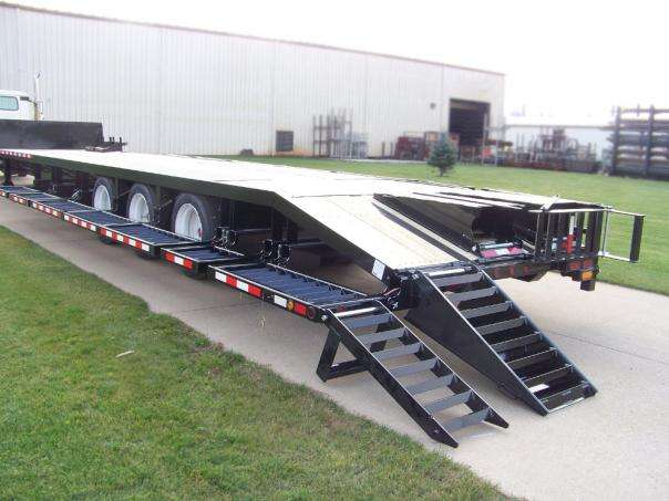 Behnke Semi Sprayer Trailer Ramp Down