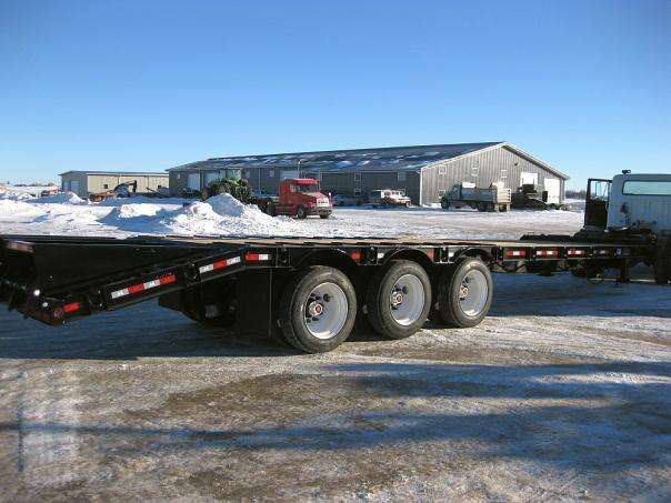 Behnke Heavy Equipment Trailer Side-Rear View