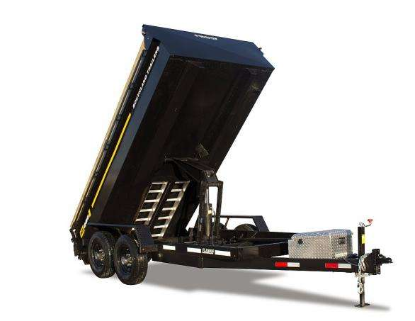 Southland SL 280 Dump Trailer Fully Raised