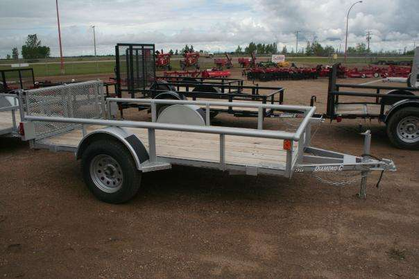 Side View of the Diamond C Galvanized Utility Trailer