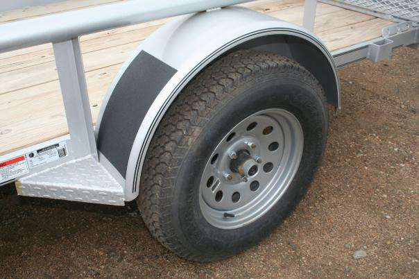 Wheel section of the Diamond C Galvanized Utility Trailer