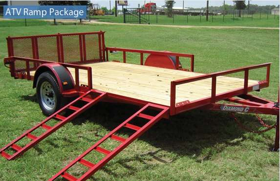 Side Ramps on the Diamond C All Purpose Utility Trailer