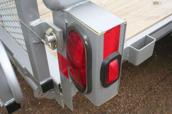 Rear Lights of the Diamond C All Purpose Utility Trailer