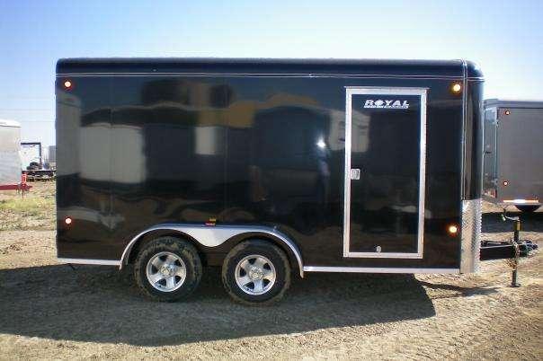 Royal Cargo 7x14 Enclosed Black Cargo Trailer
