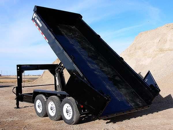 Trailtech Gooseneck Dump Trailer Unloading
