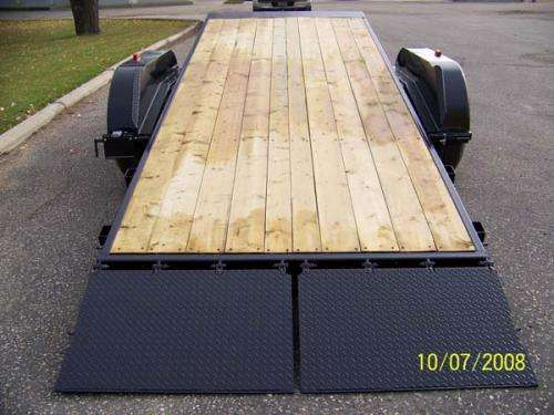 Trailtech Premier Tilting Equipment Hauler Tilted