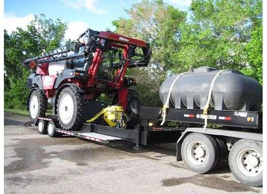 Trailtech Sprayer Trailer Tank and Sprayer Loaded