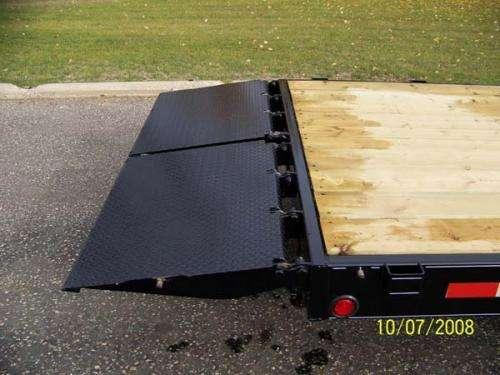 Trailtech Tilt Deck Folding Ramps Down