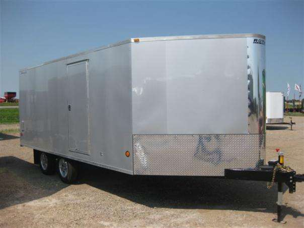 Silver 3 place sled trailer