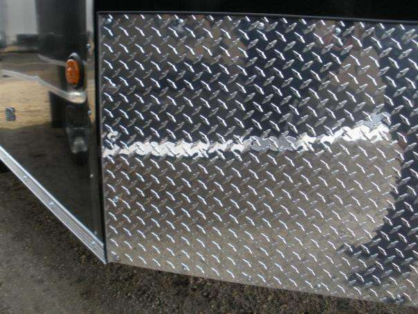 Checkerplate on front