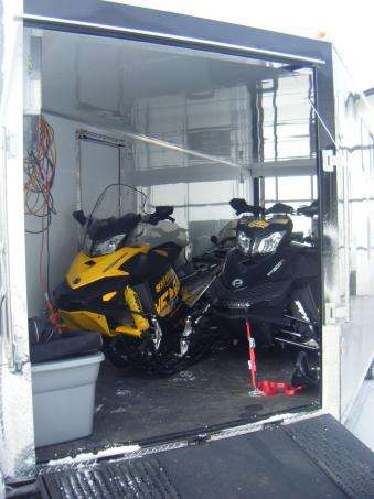 4 place trailer with sleds