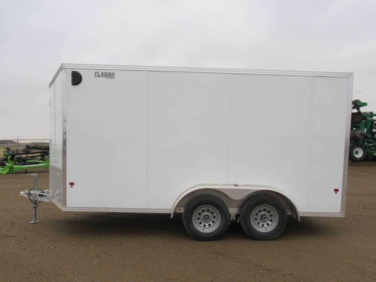 Alcom Xpress 7' x 14' Cargo - Aluminum Built, Ramp Door