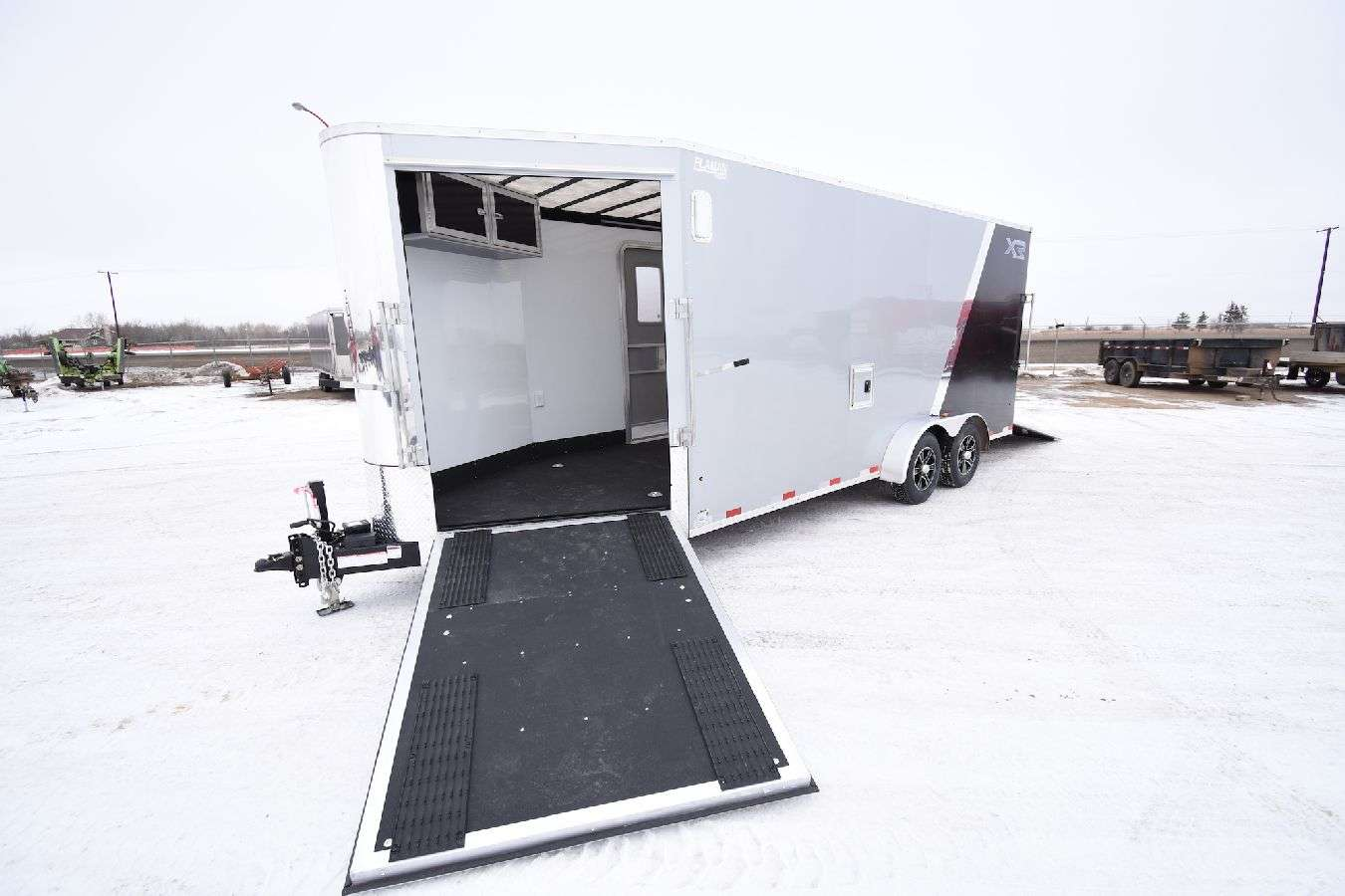 Enclosed Snowmobile Trailer Wide