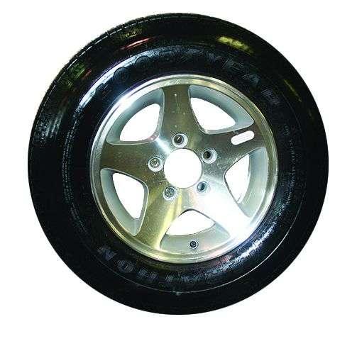 Tire on Aluminum Rim